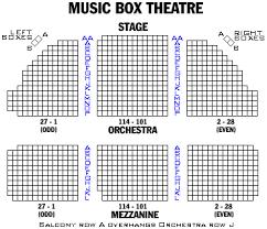 Stage 773 Seating Chart 28 Thorough Music Box Theatre