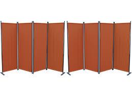 Grasekamp 2 Stück Paravent 4tlg Raumteiler Trennwand Sichtschutz