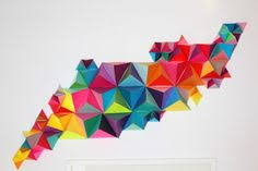 17 geometric colorful ensemble 30 insanely beautiful examples of diy paper art  on 3d paper wall art diy with 30 insanely beautiful examples of diy paper art that will enhance