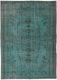 4381 overdyed vintage rug 165x250cm