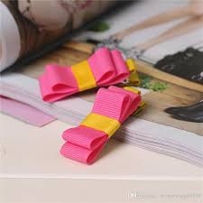 hot ing mix color korean cute diy ribbon bow hairpins for girls kids children hair clips