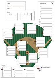 Softball Defesive Lineup Card Baseball Lineup Softball