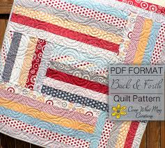 Baby Quilt Pattern Jelly Roll Quilt Pattern Back & Forth & 🔎zoom Adamdwight.com