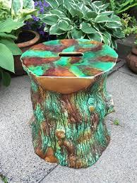 Tree Stump Seats C19th Victorian Period Majolica Type Glazed Pottery Garden Or