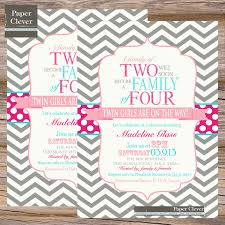 Baby Shower Invitations Twins  EysachsephotocomTwin Baby Shower Favors To Make