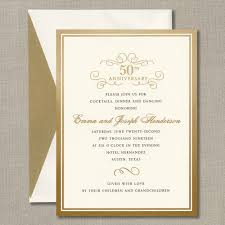 dinner party party invitations rehearsal dinner gold foil border anniversary party invitation