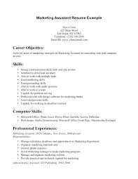 Marketing Assistant Resume Mesmerizing Objectives For Internship Resume Summer Internship Resume Objective