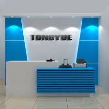 office reception decorating ideas. high gloss white contemporary office reception desk counter decorating ideas