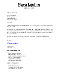 Us Citizenship Letter Of Recommendation Example Invitation Letter For Us Visa B2 Tourist With Various Samples