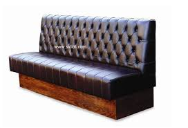 chesterfield style back wooden base restaurant sofa booth seating