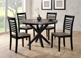 Contemporary Round Dining Table Ebony And Gray Contemporary 5 Piece Round Dining Set South Beach