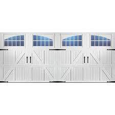 double carriage garage doors. Plain Doors Pella Carriage House 192in X 84in White Double Garage Door With Windows And Doors