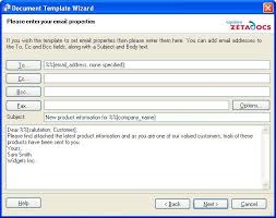 Email Address Templates Zetadocs Pdf Help