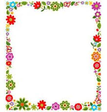 Small Picture simple flower border designs for a4 paper Google Search Ideas