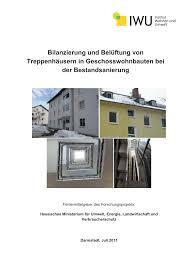 Pdf Optimale Belüftung Von Treppenhäusern In Geschosswohnbauten Bei