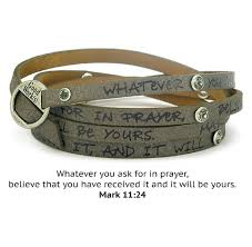 now good works make a difference leather peaceful scripture with crystals wrap around bracelet gray