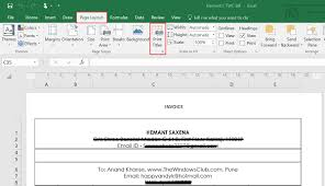 How To Select Row Or Column As Print Title Of Microsoft Excel Report