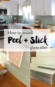 Peel And Stick Tile Designs Installing Peel And Stick Glass Tiles Home Remodeling Diy