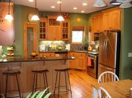 oak kitchen cabinets wall color