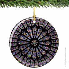 Dame Cathedral Porcelain Christmas Ornament