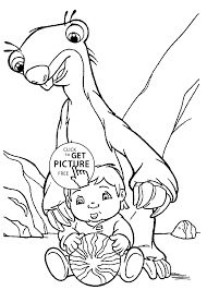 Small Picture And Baby Coloring Pages For Kids Printable Free Ice Age Coloring