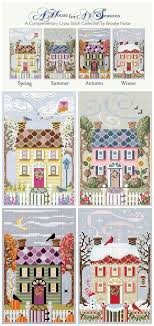 Chart Cross Stitch Free 4 Seasons Cross Stitch Houses Free Charts Cross Stitch