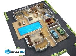 house plan 3d view fresh simple one story house plans fresh small spaces home beauty ideas