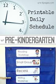 Sample Schedules Class Schedule Custom Preschool Daily Schedule And Visual Schedules