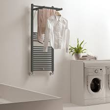 Hot water towel radiator / electric / metal / contemporary - DINAMIC PLUS