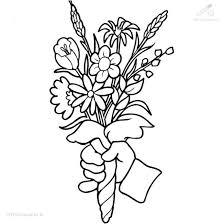 Kleurplaat Seizoen Lente Bosje Bloemen