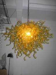 Großhandel Hochzeit Dekorative Moderne Kronleuchter Beleuchtung Led Gelb Mundgeblasenem Glas Billige Phantasie Lampe Kleine Glasdeckenleuchte Von