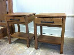 custom made reclaimed wood end tables by sb designs  custommadecom