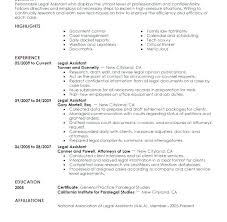 Best Career Objective For Paralegal Resume Spacesheep Co