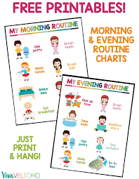 Kids Daily Routine Chart Kids Daily Routine Chart Free Printable Viva Veltoro