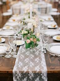 traditional elegant wedding in darien lace table runners charming chiffon for hire burlap with round tables bridal shower runner with wooden table