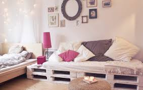 pallet bed frame diy design pallets sofa furniture pink bedside lamp shabby chic paintings