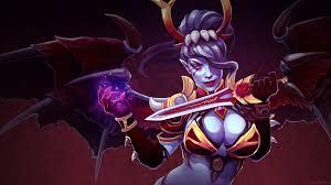 dota 2 caracters queen of pain magic girl wings knife desktop
