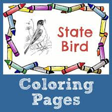 Small Picture State Symbol Coloring Pages by USA Facts for Kids