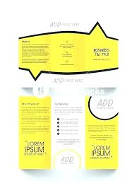 Fold Brochure Template Pages Tri Mac