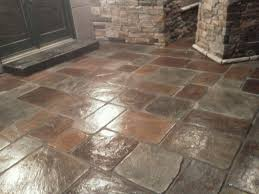 Stamped Concrete Kitchen Floor Concrete Made To Look Like Real Stone More Than Just Stamped