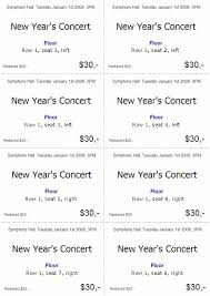 Perforated Raffle Ticket Sheets Ticketcreator Create Design And Print Tickets With Ticketcreator