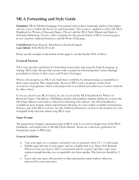 Mla Essay Headings Mla Format Section Example Cover Letter