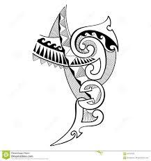 Vector иллюстрация Polynesian чертежа дизайна татуировки в черноте
