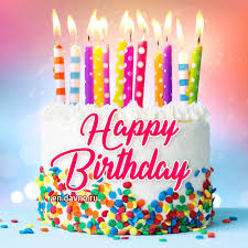 Download Beautiful Birthday Cake With Candles Gif Bday Gif