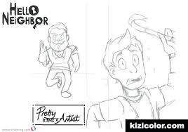 Hello Neighbour Coloring Pages Neighbor Game Jafevopusitop