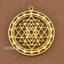 details about sri yantra meditation pendant alloy retro gold meditation tone sri chakra charm