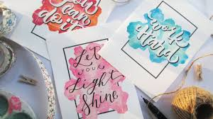 Calligraphy Backgrounds How To Diy Easy Watercolor Background And Calligraphy