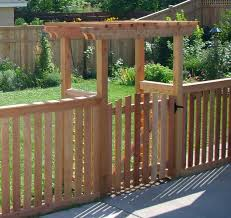 picket fence gate with arbor. Double Arbor With Arched Picket Gate Fence O