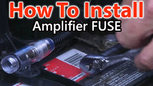 how to wire a fuse for car amplifier youtube car audio fuses 100a at Car Audio Fuse