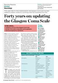 Pdf Forty Years On Updating The Glasgow Coma Scale